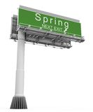Freeway Exit Sign spring Stock Photos