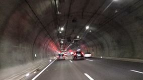 Expressway through the tunnel stock video