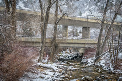 Freeway in Glenwood Canyon Stock Photos