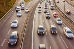 Freeway / Highway at Rush Hour Stock Image