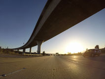 Freeway Interchange Sunset Stock Photos