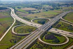 Freeway intersection Stock Photography
