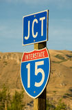 Freeway Junction I-15 Sign Royalty Free Stock Photos