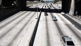 Freeway with light traffic Royalty Free Stock Image