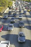 405 freeway near Sunset Blvd. at rush hour, Los Angeles, California Royalty Free Stock Image