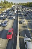 405 freeway near Sunset Blvd. at rush hour, Los Angeles, California Stock Image