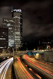 Freeway at Night Royalty Free Stock Photos