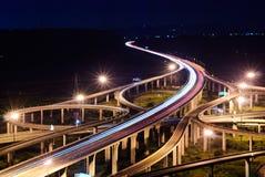 Freeway in night Royalty Free Stock Photos