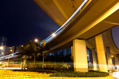 Freeway at night Stock Images
