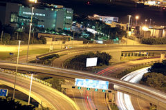 Freeway in night royalty free stock images