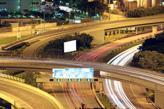 Freeway in night Stock Image