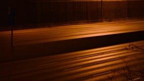 Freeway at night stock footage