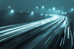 Freeway at night Royalty Free Stock Images