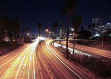 Freeway Nightscape Royalty Free Stock Image