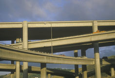 Freeway Overpass. Multi-level freeway overpass, Highway 10, Los Angeles, California Royalty Free Stock Photography