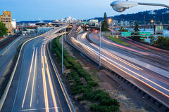 Freeway in Portland, Oregon Stock Photography