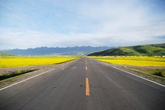 Freeway of Qinghai  China Royalty Free Stock Photo