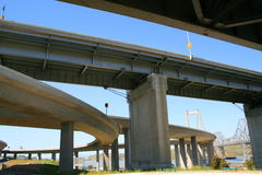 Freeway Ramps. Close up of the empty freeway ramps Stock Images
