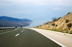 Freeway by the sea Royalty Free Stock Image