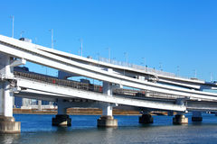 Freeway with sea in Tokyo Stock Photo