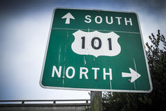 Freeway sign Stock Images