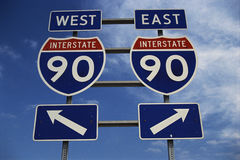 Freeway sign for Highway 90, New York Royalty Free Stock Photography