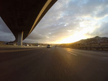 Freeway Sunrise Royalty Free Stock Image