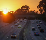 101 freeway sunset Stock Photos
