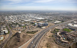 Freeway in Tempe, Arizona Royalty Free Stock Photography