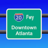 Freeway to  Atlanta sign Stock Photos