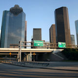 Freeway to Houston Stock Image
