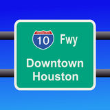Freeway to Houston sign Royalty Free Stock Photography