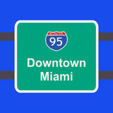 Freeway to Miami sign Stock Photos
