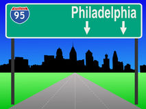 Freeway to Philadelphia Royalty Free Stock Photo