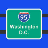 Freeway to Washington DC sign Royalty Free Stock Images
