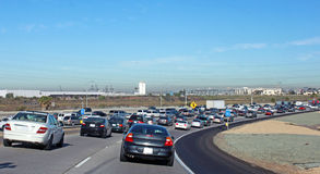 Freeway traffic Stock Images