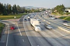 Freeway Traffic. In Orange County California royalty free stock image