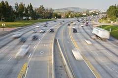 Freeway Traffic. In Orange County California stock image