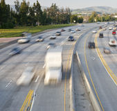 Freeway Traffic. In Orange County California Royalty Free Stock Photography