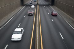 Freeway Traffic Royalty Free Stock Image