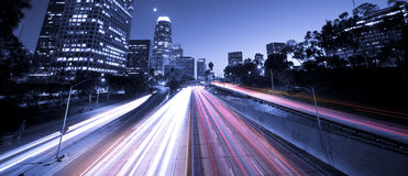 Freeway Traffic Royalty Free Stock Photos