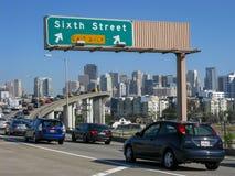Freeway traffic in San Francisco Royalty Free Stock Photo
