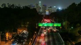 Freeway Traffic Time Lapse stock footage