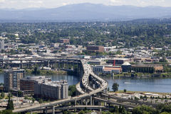 Freeways traffics Portland Royalty Free Stock Photo