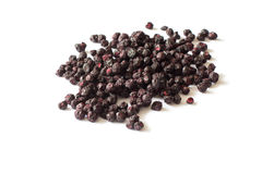 Freeze dried blueberries on a white background. Royalty Free Stock Photo