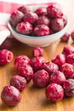 Freeze dried cherries. royalty free stock images