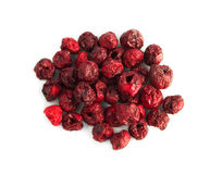Freeze dried cherry. On a white background stock photos