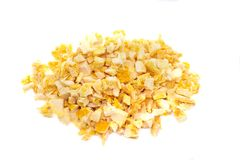 Freeze dried orange on a white background. Royalty Free Stock Photography