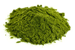 Freeze-dried organic wheat grass powder Stock Photography