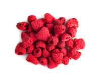 Freeze dried raspberry. On a white background Stock Image